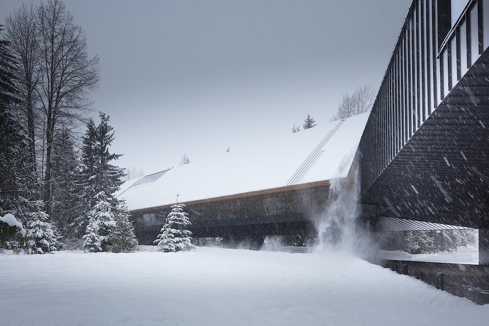 Audain Museum of Art, Whistler, British Columbia   Winter   Patkau Architects