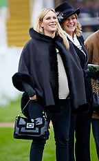 NOV 16 2013 Zara Phillips attends the Paddy Power Gold Cup at Cheltenham Race