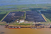 Ore mining, Mississippi River, Plaquemines Parish, Louisiana, USA