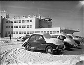 1956 - Snow scenes at Dublin Airport.