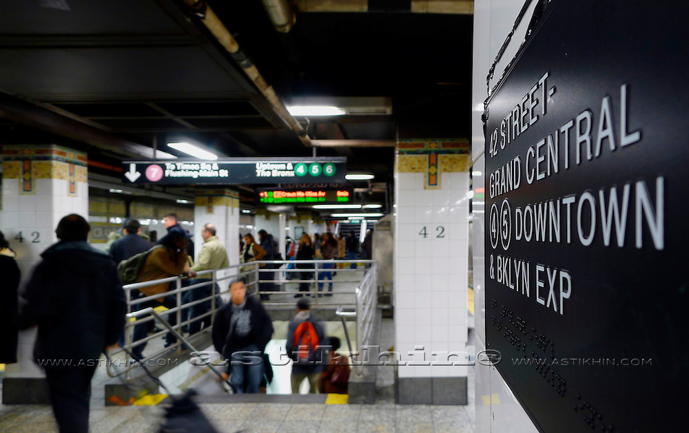 MTA train station 42nd Street.