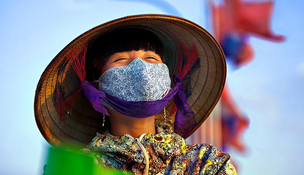 A woman in Vientiane, Laos.