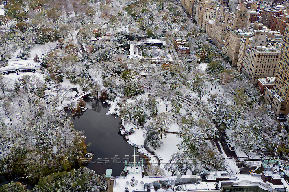 View on Central Park from the sky.