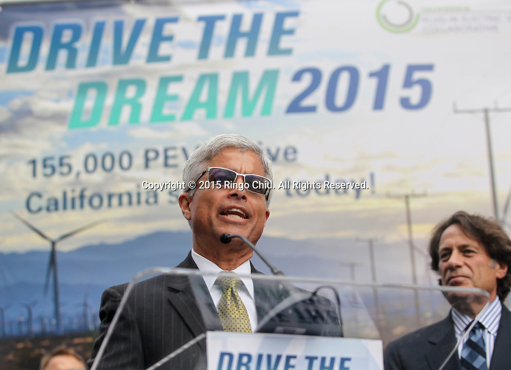Pedro Pizarro, president of Southern California Edison (SCE) speaks in Drive the Dream 2015 event at Creative Artists Agency in Los Angeles October 15, 2015.  (Photo by Ringo Chiu/PHOTOFORMULA.com)