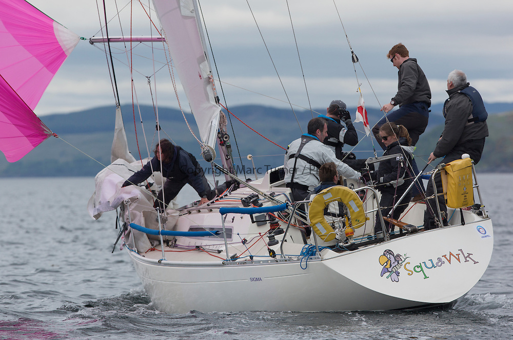 Day one of the Silvers Marine Scottish Series 2016, the largest sailing event in Scotland organised by the  Clyde Cruising Club<br /> Racing on Loch Fyne from 27th-30th May 2016<br /> <br /> GBR8148R, Squawk, Paul Prentice, BYC/RUYC, Sigma 33<br /> <br /> <br /> Credit : Marc Turner / CCC<br /> For further information contact<br /> Iain Hurrel<br /> Mobile : 07766 116451<br /> Email : info@marine.blast.com<br /> <br /> For a full list of Silvers Marine Scottish Series sponsors visit http://www.clyde.org/scottish-series/sponsors/