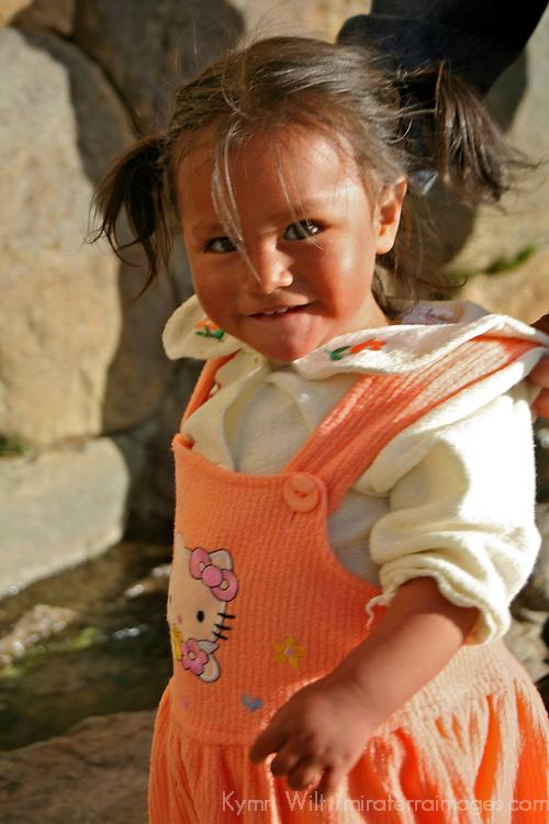 Americas, South America, Peru, Ollanta. Young Peruvian girl in Ollanta.