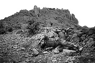 An Ethiopian soldier lies dead after attempting to take a hill from Eritrean soldiers, near Tsorana, Eritrea.