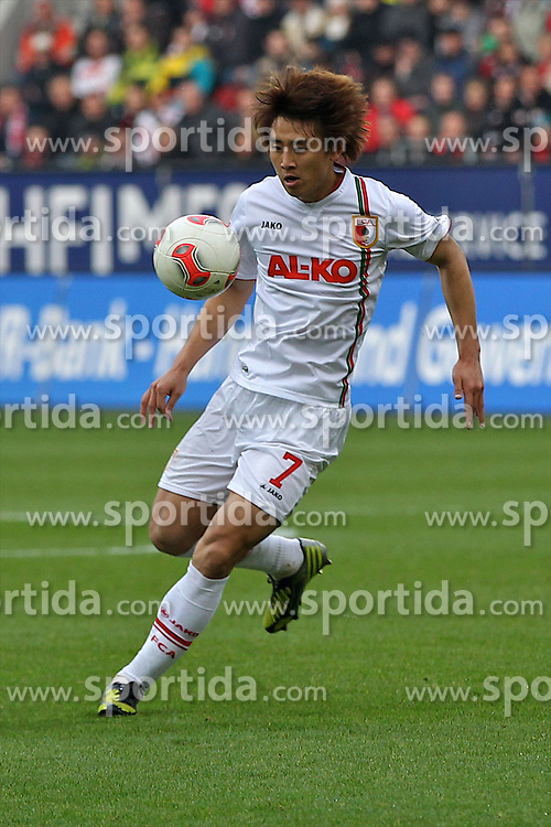 10.11.2012, SGL Arena, Augsburg, GER, 1. FBL, FC Augsburg vs Borussia Dortmund, 11. Runde, im Bild  Ja-Cheol Koo (# 14, FC Augsburg) during the German Bundesliga 11th round match between FC Augsburg and Borussia Dortmund at the SGL Arena, Augsburg, Germany on 2012/11/1
