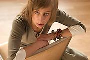 Aktorka Magdalena Schejbal. Warszawa, Rezydencja Diana, 11-04-2005, fot: Piotr Gesicki, makijaz i fryzury: Robert Bielski, stylizacja: Kama Wieleba.