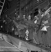 1961 - Troops of the 36th Battalion and General McKeown leave for the Congo