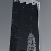 &quot;Campbell Mithun Tower Minneapolis&quot; mono<br /> <br /> The beautiful Campbell Mithun Tower with reflections of the Foshay Tower. <br /> <br /> Cities and Skyscrapers by Rachel Cohen