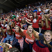 "Gonzaga fans come together during ""Zombie Nation"" prior to the men's basketball game against Memphis at the McCarthey Athletic Center in Spokane, WA, Saturday, Jan. 31, 2015. (Ryan Sullivan/Gonzaga University)"