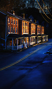 Spring Street sunset, Oella, Maryland.