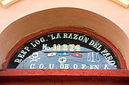 Masonic door in La Maya, Santiago de Cuba, Cuba.