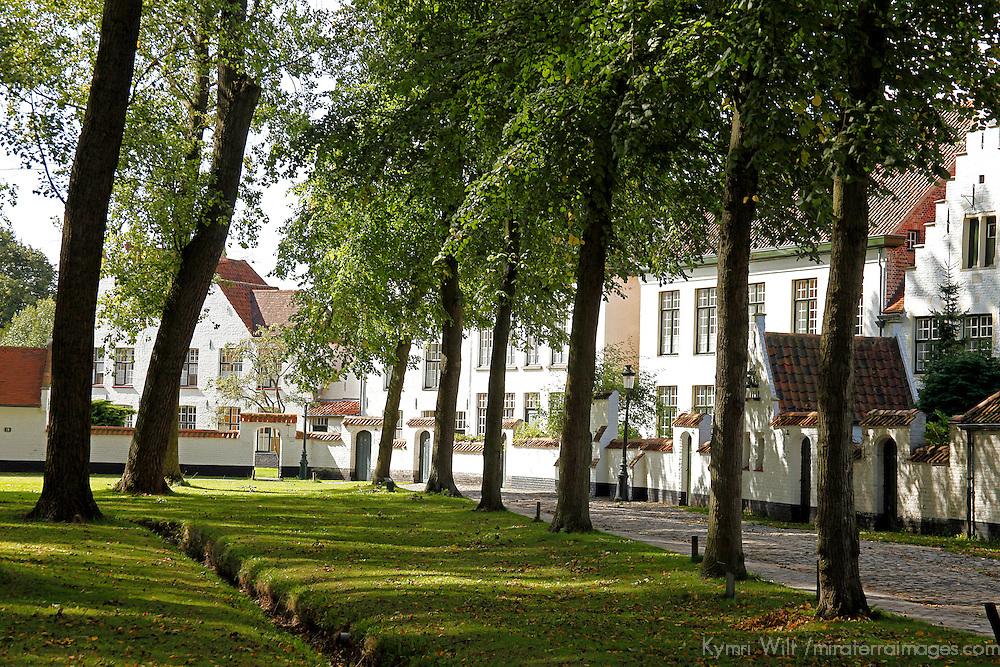 Europe, Belgium, Brugges. Béguinage of Brugges.