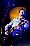 Danny Jones of McFly performs live on stage at Wembley Arena on April 1, 2011 in London, England.  (Photo by Simone Joyner)
