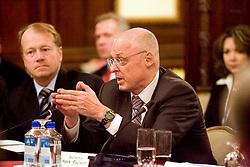 Secretary of the Treasury Paulson, CEO of Cisco John Chambers and Executives