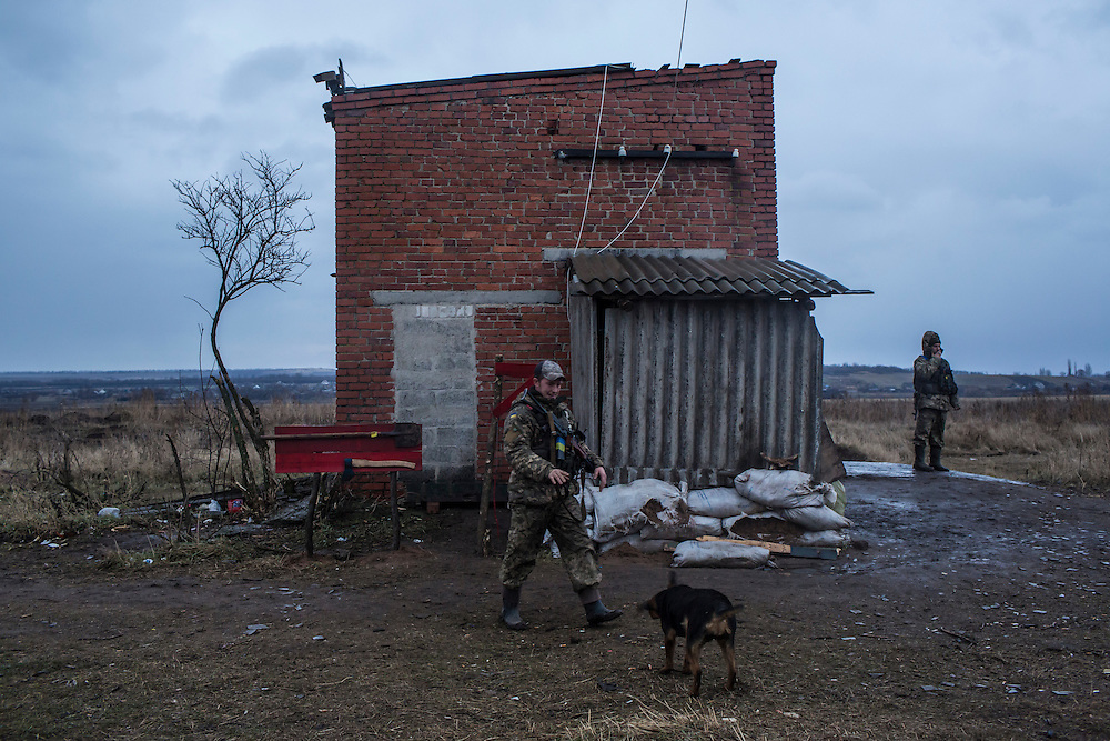 Ukrainian soldiers at an artillery depot on Monday, December 14, 2015 near Slovyansk, Ukraine.