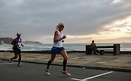 EAST LONDON, SOUTH AFRICA - FEBRUARY 20: Angelique Rabie of Western Province runs along the beachfront during the ASA Marathon Championships in East London on February 20, 2015 in South Africa. (Photo by Roger Sedres/Gallo Images)
