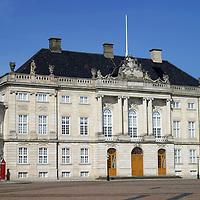 Europe, Denmark, Copenhagen. Moltke's Palace of Amalienborg.