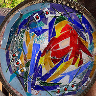 Public art detail in downtown Glenwood Springs, Colorado, USA