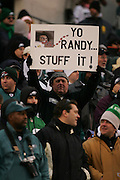 16 Jan 2005: Eagles fans with Randy Moss sign during the Philadelphia Eagles 27-14 victory over the Minnesota Vikings at Lincoln Financial Field in Philadelphia, PA. <br /> <br /> Mandatory Credit:Todd Bauders/ContrastPhotography.com