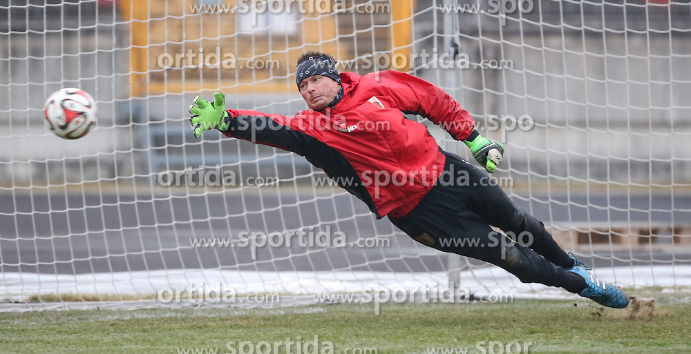 17.02.2015, Trainingsgel&auml;nde, Augsburg, GER, 1. FBL, FC Augsburg, Training, im Bild Alexander Manninger (Torwart FC Augsburg #1), // during a trainingssession of the german 1st bundesliga club FC Augsburg at the Trainingsgel&auml;nde in Augsburg, Germany on 2015/02/17. EXPA Pictures &copy; 2015, PhotoCredit: EXPA/ Eibner-Pressefoto/ Krieger<br /> <br /> *****ATTENTION - OUT of GER*****