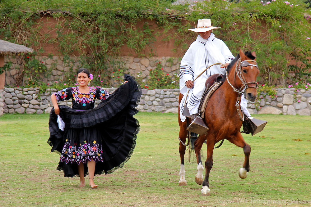 South America, Peru, Urubamba. Peruvian Paso Horse Show at Wayra Ranch.