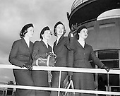 1958- 18/02 AerLingus special Air Hostesses at Dublin Airport