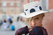 UK. London. Supermodel and actress, Agyness Deyn photographed in Convent Garden..Photos ©Steve Forrest