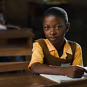 Abigail (11), pictured on 15 May 2014, is in Grade 3 in the Volta Region of Ghana. She says that maths is her favourite subject, and that she wants to be a government minister when she grows up.