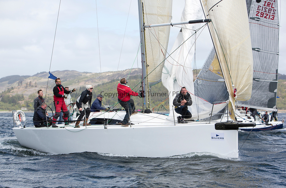 The final days racing at the Silvers Marine Scottish Series 2015, the largest sailing event in Scotland organised by the  Clyde Cruising Club<br /> Racing on Loch Fyne from 22rd-24th May 2015<br /> <br /> GBR7667R, Now or Never 3, Neil Sandford, Fairlie YC, Mat 1010<br /> <br /> Credit : Marc Turner / CCC<br /> For further information contact<br /> Iain Hurrel<br /> Mobile : 07766 116451<br /> Email : info@marine.blast.com<br /> <br /> For a full list of Silvers Marine Scottish Series sponsors visit http://www.clyde.org/scottish-series/sponsors/