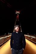 Pop singer Alex Clare is standing on Holbeinsteg pedestrian bridge in the german city of Frankfurt am Main on April 23, 2012<br /> <br /> &copy;peter-juelich.com