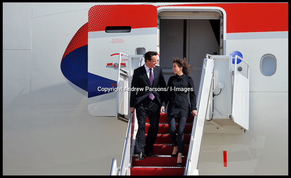 The Prime Minister David Cameron and his wife Samantha arrive in Washington for their visit to meet President Obama, Tuesday March 13, 2012 . Photo By Andrew Parsons/ i-Images