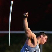 """Franklin javelin thrower Daniel Brant lets loose with a huge throw of 204'6""""  during an interscholastic match."""