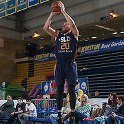 Salt Lake City Stars Guard BRANDON TRICHE (20) attempts a three point shot in the second half of an NBA D-league regular season game between the Delaware 87ers and the Salt Lake City Stars (Utah Jazz) Friday, March 17, 2017 at The Bob Carpenter Sports Convocation Center in Newark, DEL