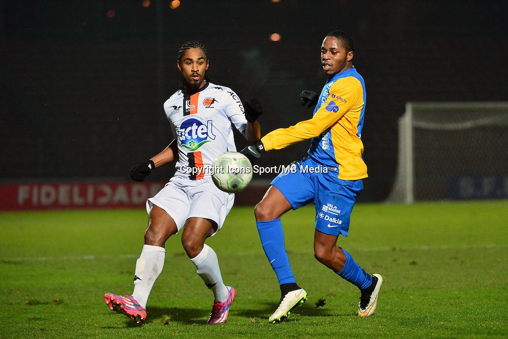 Wesley SAID / Bagaliy DABO - 23.01.2015 - Creteil / Laval - 21eme journee de Ligue 2<br /> Photo : Dave Winter / Icon Sport