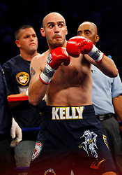 October 18, 2008; Atlantic City, NJ, USA;  Kelly Pavlik before his 12 round Light Heavyweight fight against Bernard Hopkins at Boardwalk Hall in Atlantic City, NJ.  Hopkins won the fight via 12 round unanimous decision.