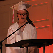 Gabrielle Donovan gives Salutatory address during Red Lion Christian Academy commencement exercise Friday, May 29, 2015, at Glasgow Church in Bear, Delaware.