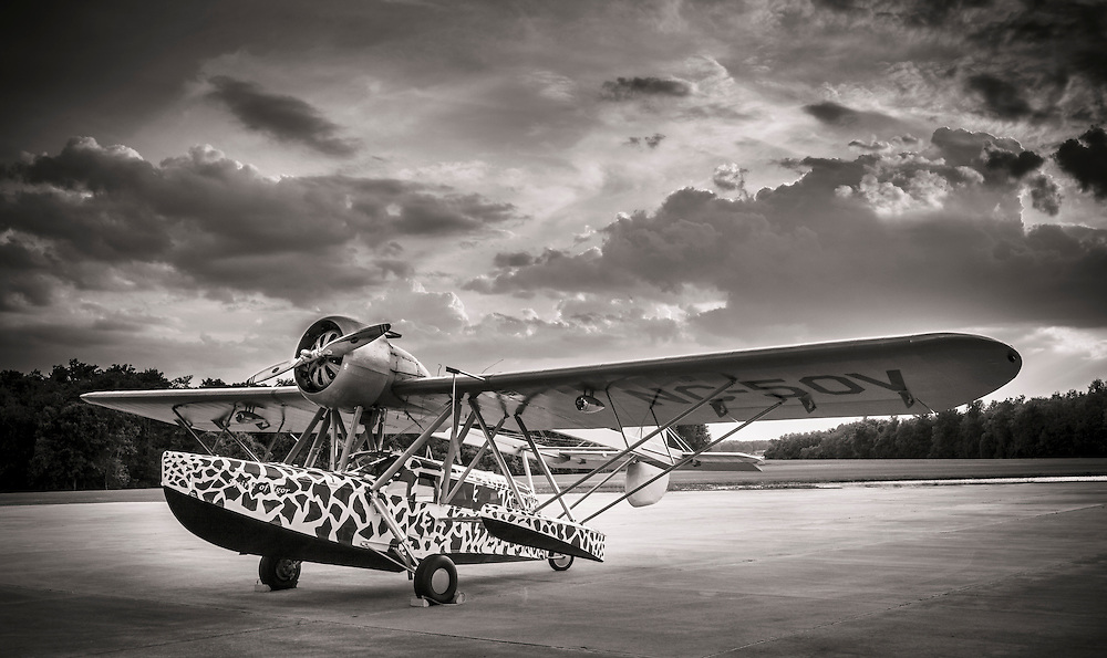 The paint scheme pattern was modeled after a real giraffe.  Fantasy of Flight, Polk City, Florida.
