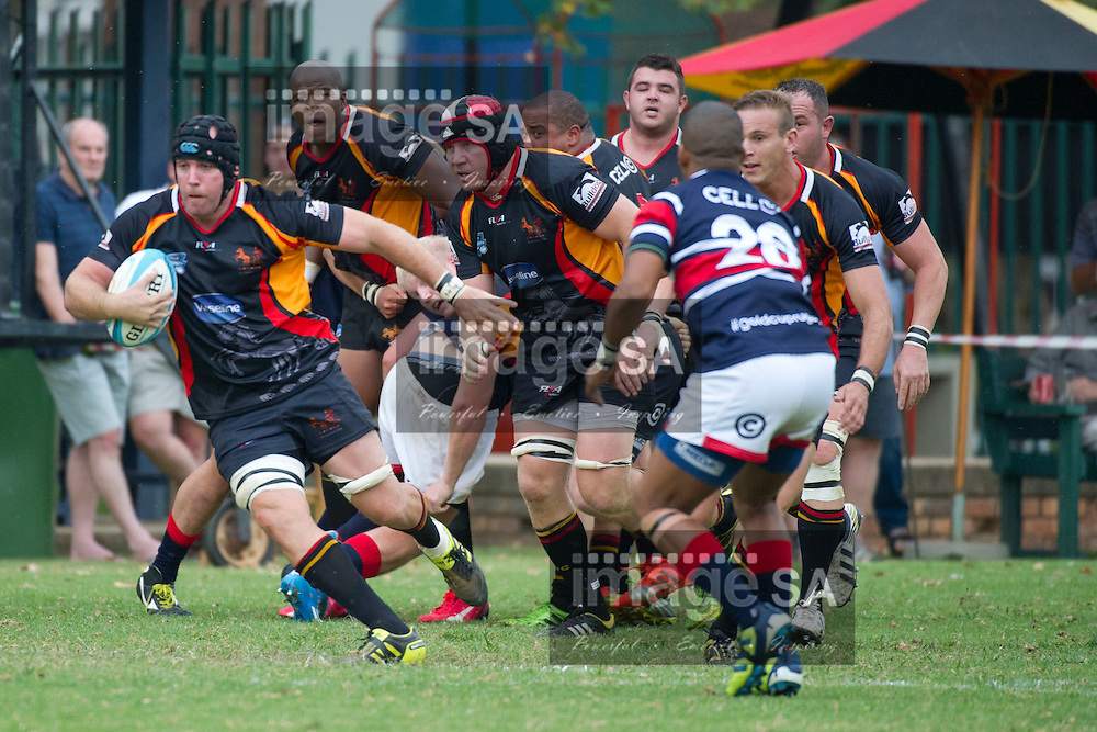 JOHANNESBURG, SOUTH AFRICA - Saturday 14 March 2015, Jonathan Mallet (8) from Wanderers  with ball in hand during the fourth round match of the Cell C Community Cup between Vaseline Wanderers and One Logix United Bulk Villagers Worcester at Kent Park, Wanderers Cricket Club, Johannesburg<br /> Photo by Craig Nieuwenhuizen/ ImageSA/SARU
