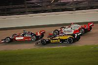 Ryan Briscoe, Bryan Herta, Helio Castroneves, Firestone Indy 200, Nashville Superspeedway, Nashville, TN USA, 7/15/06