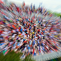 Crowd with motion blur