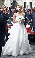 OCT 09 2014 Wedding of Michelle Hunziker to Tomaso Trussardi