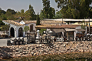 08.07.2008 Spain Huelva province Centro Latino Americano museum of copies of Columbus ships, and reconstruction of first spanish village on american continent. Fot  Piotr Gesicki