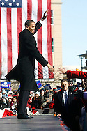 U.S. Senator Barack Obama addresses a crowd of supporters as he announces his candidacy for President of the United States in Springfield, IL February 10, 2007.
