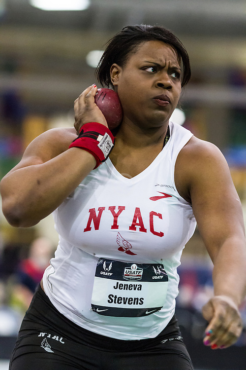 USATF Indoor Track & Field Championships: womens shot put, Jeneva Stevens, NYAC