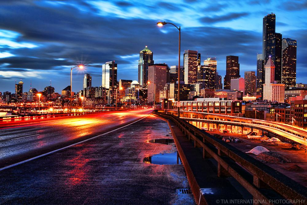 Alaskan Way Viaduct & Seattle Skyline