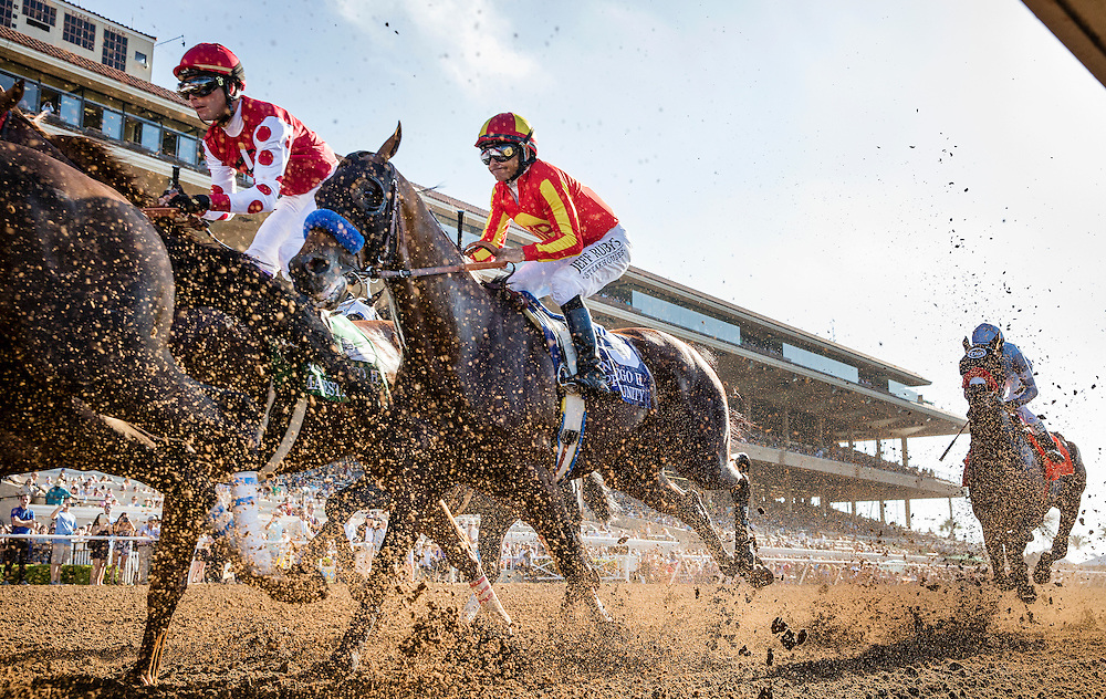 July 25 2015: Hoppertunity and Mike Smith at the San Diego Handicap at Del Mar Race Course in Del Mar CA. Alex Evers/ESW/CSM
