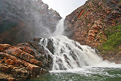Turtle Falls in Dugong Bay at the end of the Kimberley wet season.